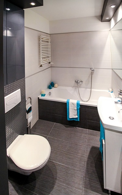 Kolor czarny w łazience